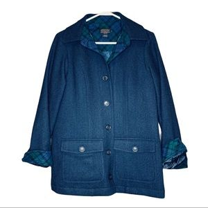 Pendleton Navy Blue Wool Coat